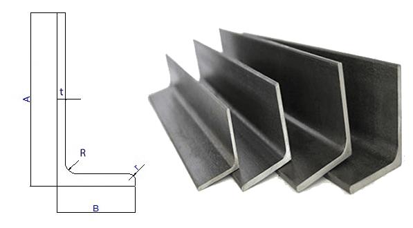 Bảng Quy cách thép hình chữ L (thép góc không đều cạnh)