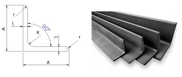 Bảng tra thép hình V